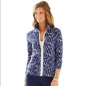 Lily Pulitzer Leona Fish Zip Up Sweatshirt Jacket